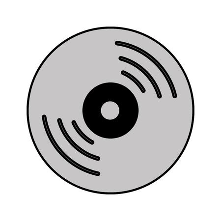 information medium: compact disk isolated icon vector illustration design Illustration