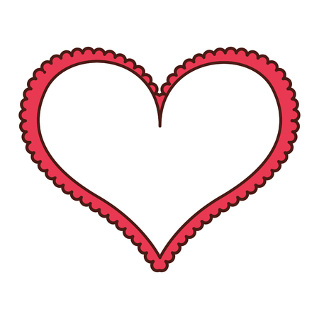 heart love frame icon vector illustration design Imagens - 75974318