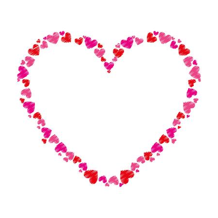 Heart Love Frame Icon Vector Illustration Design Royalty Free ...