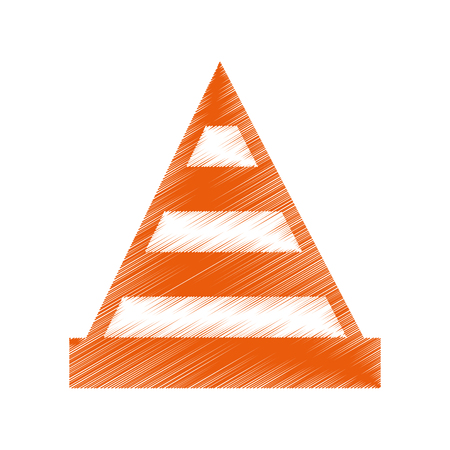 construction cone isolated icon vector illustration design Illustration