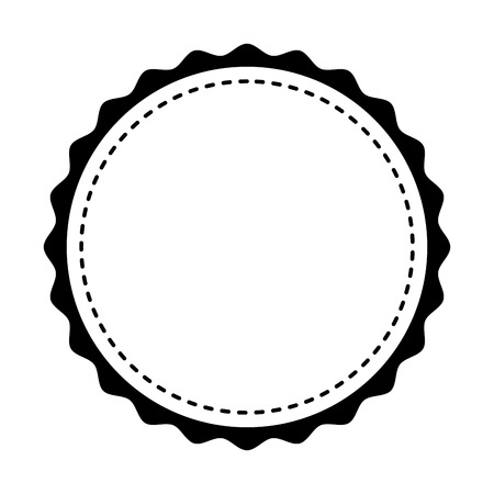 circle seal stamp lace vector illustration design Stock Vector - 75974243