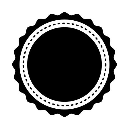 circle seal stamp lace vector illustration design