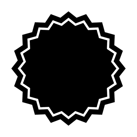 circle seal stamp lace vector illustration design Stock Vector - 75974390
