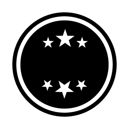 circle seal stamp with stars vector illustration design Stock Vector - 75974391
