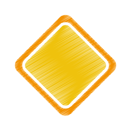 traffic pole: diamond traffic signal icon vector illustration design Illustration