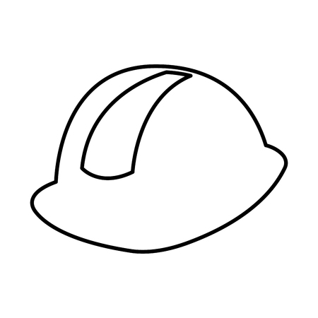 helmet construction isolated icon vector illustration design Illustration