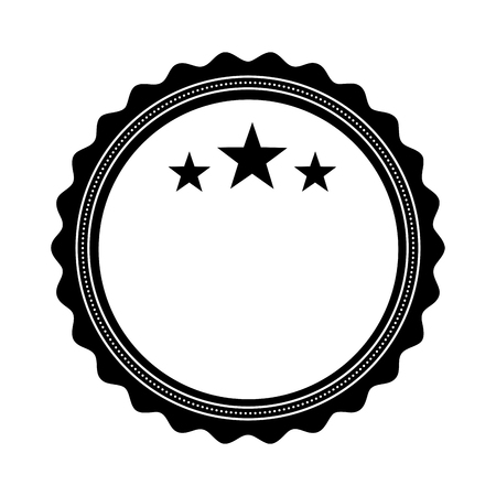 circle seal stamp with stars vector illustration design Stock Vector - 75974249