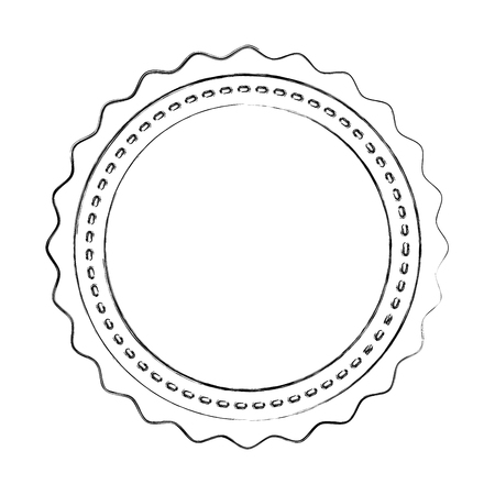 circle seal stamp lace vector illustration design Stock Vector - 75974248