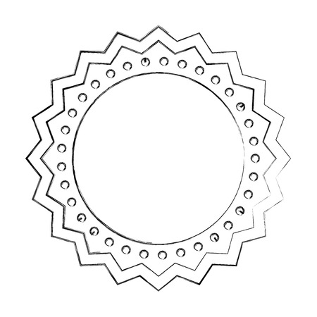 circle seal stamp lace vector illustration design Stock Vector - 75974253