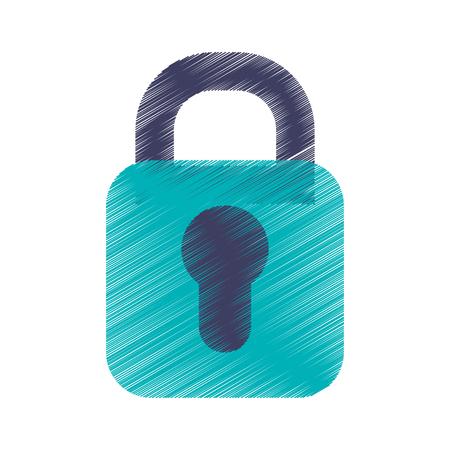 safe padlock isolated icon vector illustration design Ilustrace