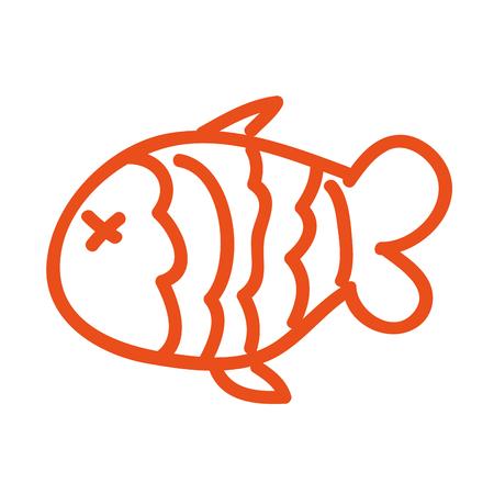 fish nutritive food isolated icon vector illustration design Illustration
