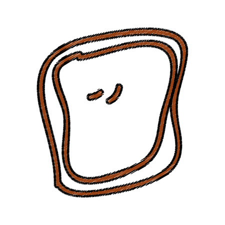 toasted: bread slice isolated icon vector illustration design