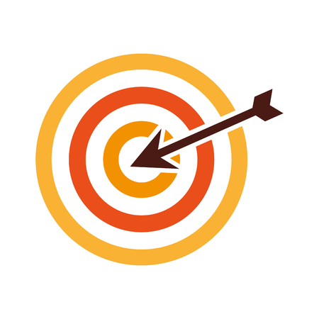 target with arrow isolated icon vector illustration design Illustration
