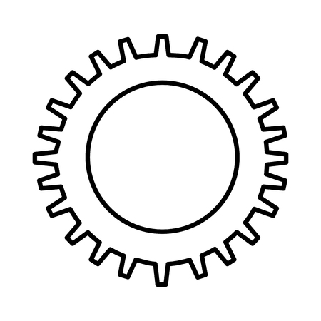 gear settings setup icon vector illustration design Illustration