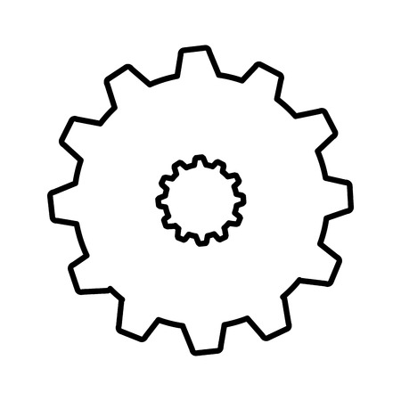 gear settings setup icon vector illustration design Ilustração