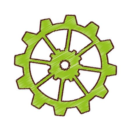 gear settings setup icon vector illustration design Reklamní fotografie - 75974488