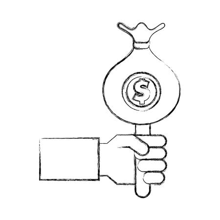 bag money isolated icon vector illustration design Stock Vector - 75975860