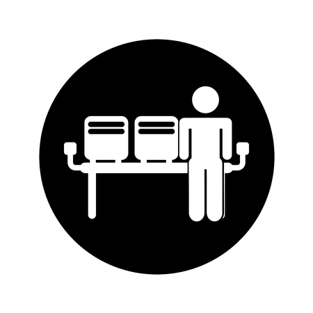 Airport waiting room icon vector illustration design