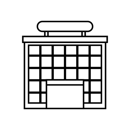 airport building isolated icon vector illustration design Illustration
