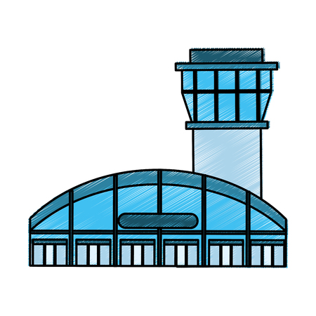 air traffic: airport tower control icon vector illustration design Illustration