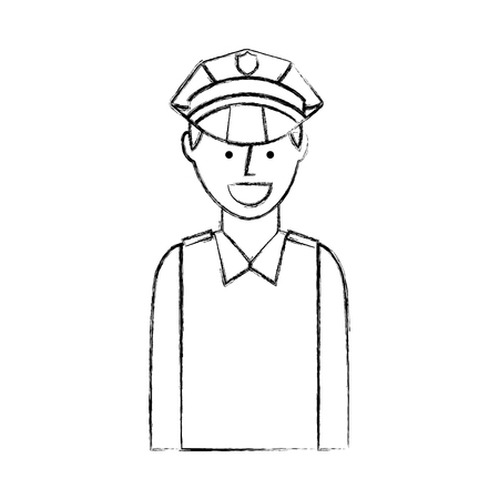 airport police silhouette icon vector illustration design 向量圖像