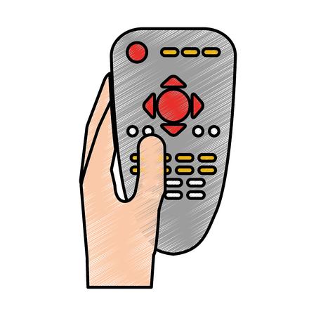 gps device: remote contgrol tv icon vector illustration design