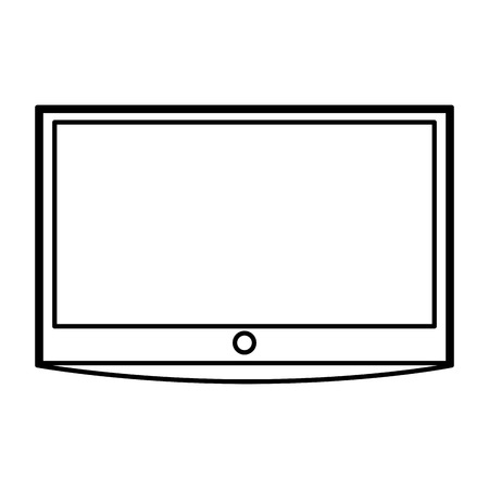 lcd: lcd tv isolated icon vector illustration design