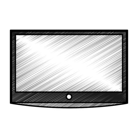 hdtv: lcd tv isolated icon vector illustration design