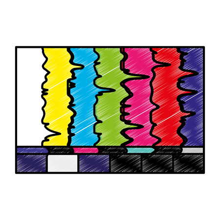 tv with bad signal icon vector illustration design Ilustrace