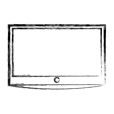 lcd tv isolated icon vector illustration design