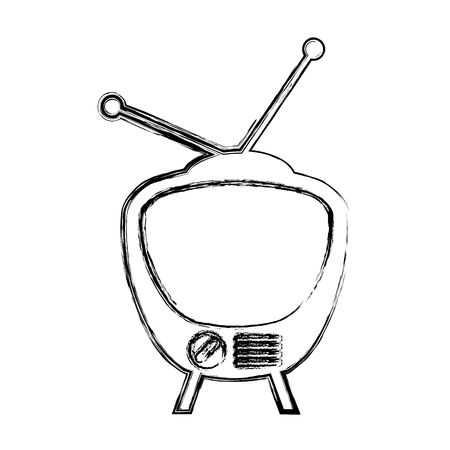 retro tv isolated icon vector illustration design