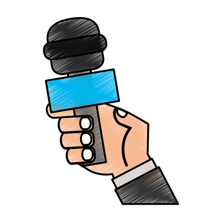 Journalist microphone isolated icon vector illustration design