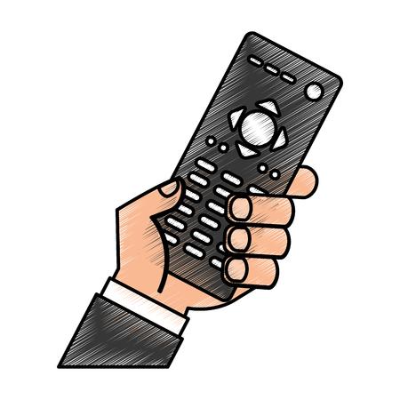 remoto contgrol tv icono diseño de la ilustración vectorial Ilustración de vector