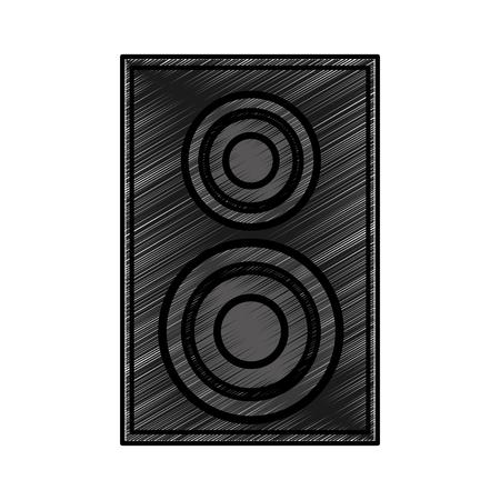 Home cinéma haut-parleur icône vector illustration design Banque d'images - 75976068