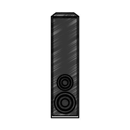 Home cinéma haut-parleur icône vector illustration design Banque d'images - 75976072