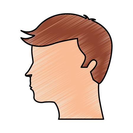 human profile isolated icon vector illustration design Illustration