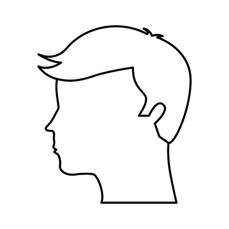 usual: human profile isolated icon vector illustration design Illustration