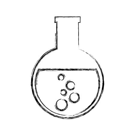 tube test laboratory icon vector illustration design