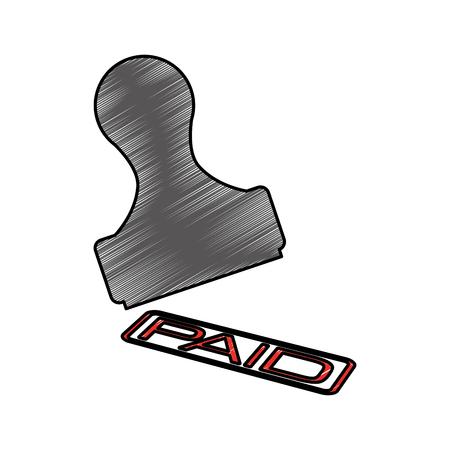 paid seal isolated icon vector illustration design Illustration