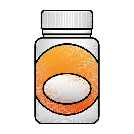 medicine bottle isolated icon vector illustration design Illustration
