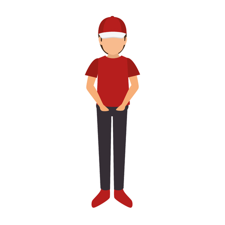 delivery worker avatar icon vector illustration design