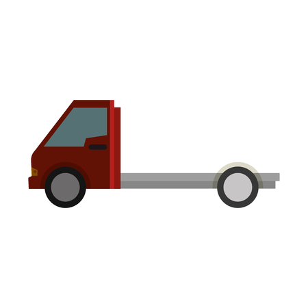 delivery truck vehicle isolated icon vector illustration design