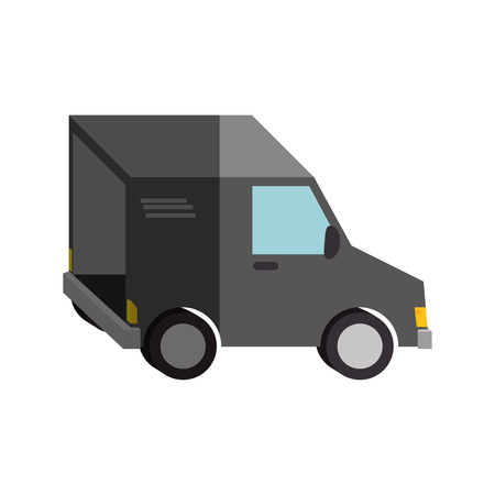 auto service: delivery van vehicle isolated icon vector illustration design