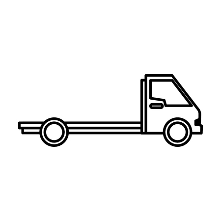 auto service: delivery truck vehicle isolated icon vector illustration design