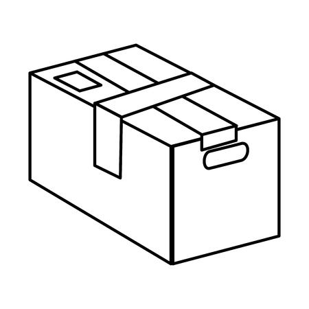 furniture store: carton box packing icon vector illustration design Illustration