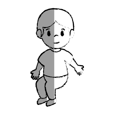 little boy avatar icon vector illustration design
