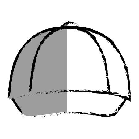 hat with visor: courier cap uniform icon vector illustration design
