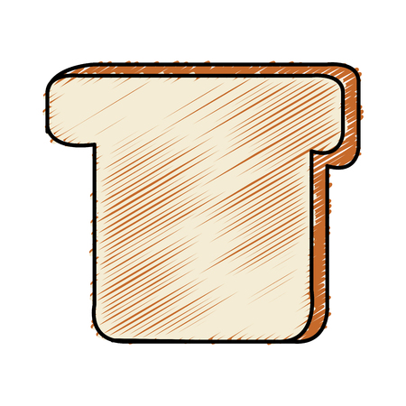 traditionally: delicious slice bread isolated icon vector illustration design