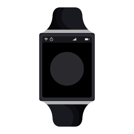 time smartwatch isolated icon vector illustration design Illustration