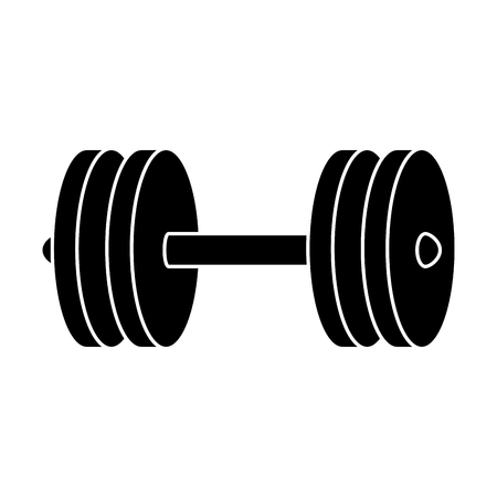 dumbell: weight lifting dumbell icon vector illustration design